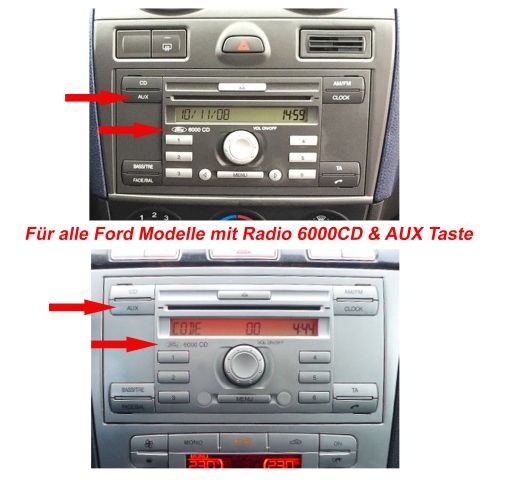 Bluetooth Musik Adapter MP3 FORD Focus Fiesta Fusion Mit